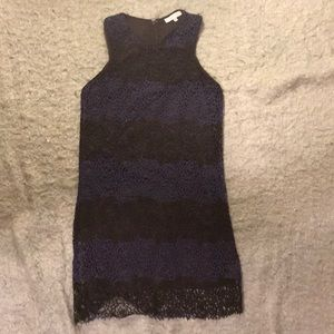 Lucy Paris Black and Blue dress
